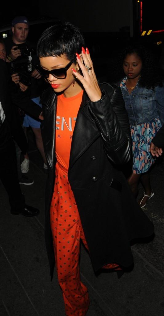 Rihanna à Londres, le 9 septembre 2012.