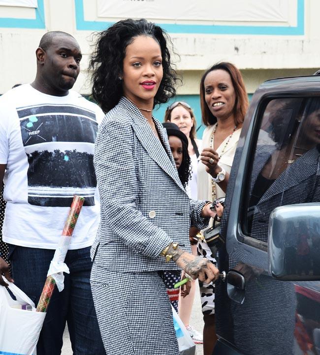 Rihanna à la Barbade le 24 décembre 2013
