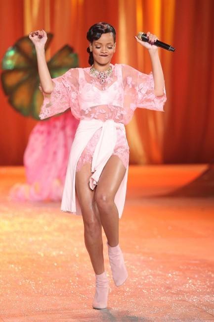 Rihanna lors du défilé Victoria's Secret, le 7 novembre 2012.