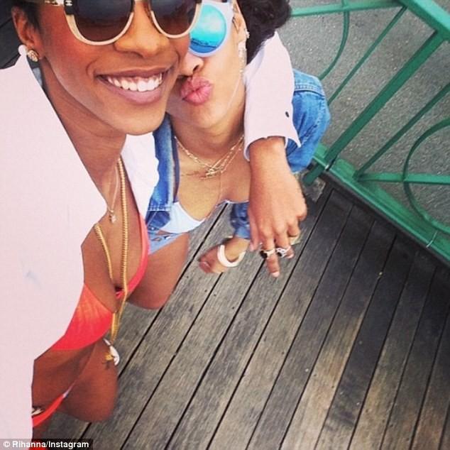 Rihanna à la plage à la Barbade, le 26 décembre 2013.