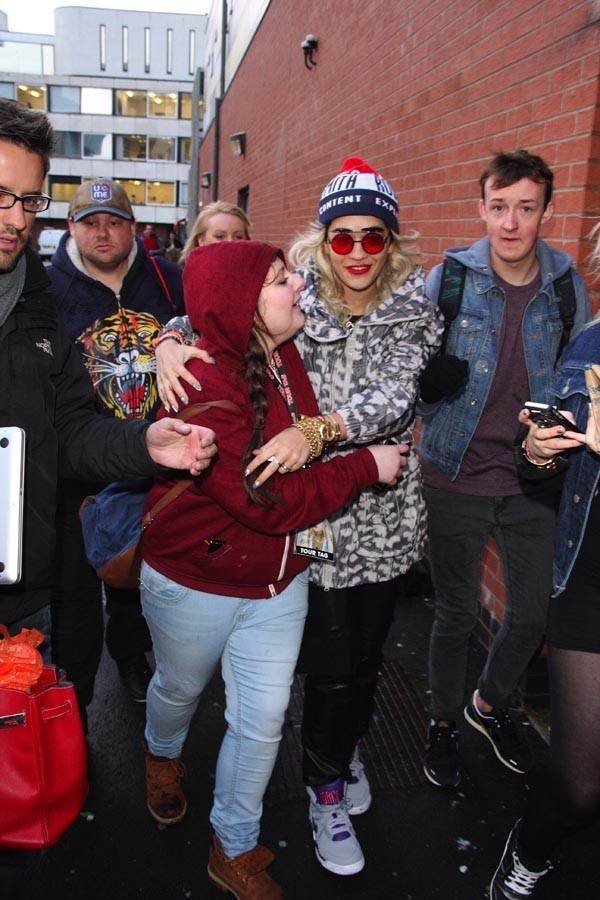 Rita Ora à Manchester le 28 janvier 2013 pour la première date de sa tournée
