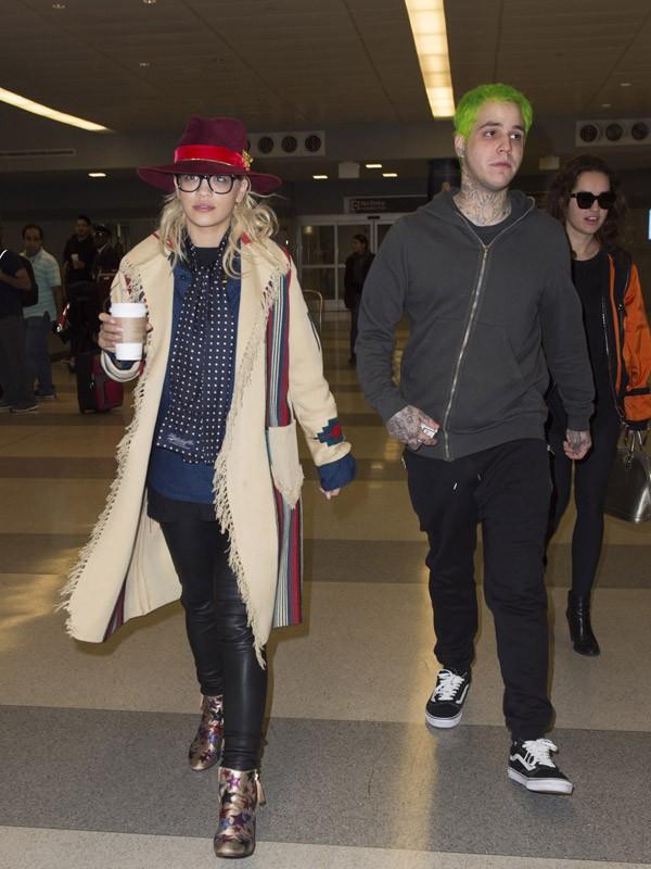 Rita Ora et Ricky Hil lors de leur escale à New York