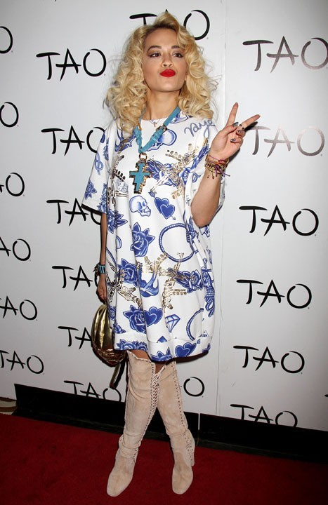 Rita Ora au club Le Tao de Las Vegas le 30 mars 2013