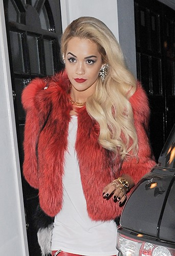 Rita Ora à Londres le 28 mars 2014