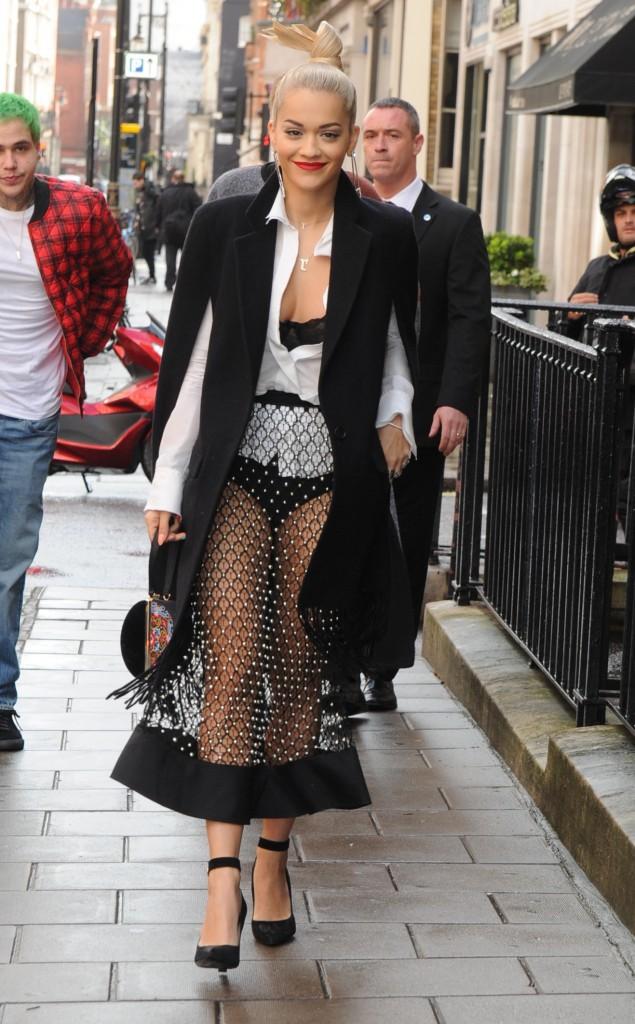 Rita Ora à Londres le 8 octobre 2014