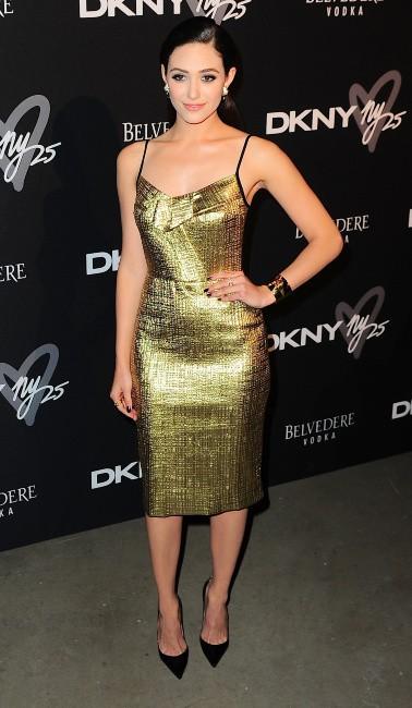 Emmy Rossum lors de la B-Day Party de la marque DKNY à New York, le 9 septembre 2013.