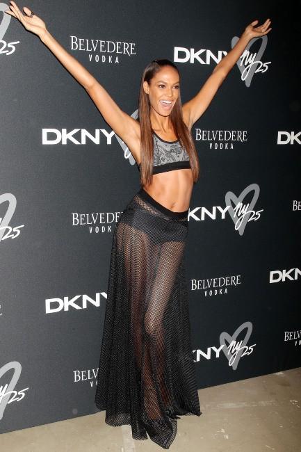 Joan Smalls lors de la B-Day Party de la marque DKNY à New York, le 9 septembre 2013.