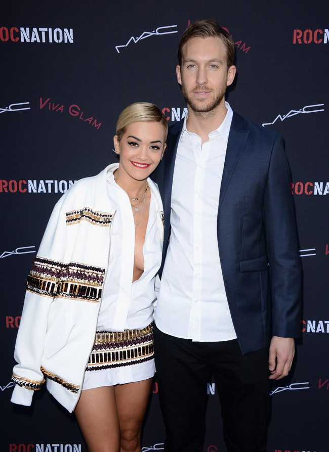Rita Ora et Calvin Harris à Los Angeles le 25 janvier 2014