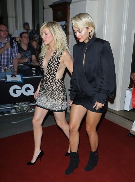 Rita Ora et Elie Goulding lors de la soirée GQ à Londres, le 3 septembre 2013.