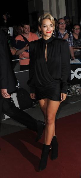Rita Ora lors de la soirée GQ à Londres, le 3 septembre 2013.