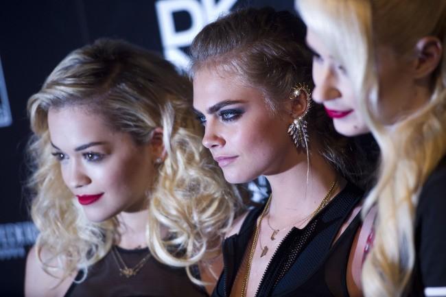 Rita Ora, Cara Delevingne et Iggy Azalea lors de la soirée DKNY à Londres, le 12 juin 2013.