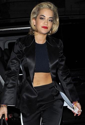 Rita Ora à l'ouvertue d'une boutique Calvin Klein à Londres le 18 février 2013