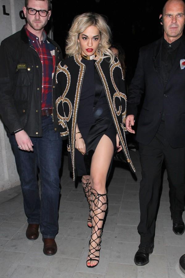 Rita Ora à Londres le 16 février 2013
