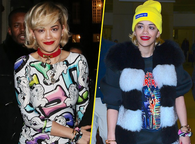 Photos : Rita Ora : Petit Poney à Londres et poupée rock à New-York !
