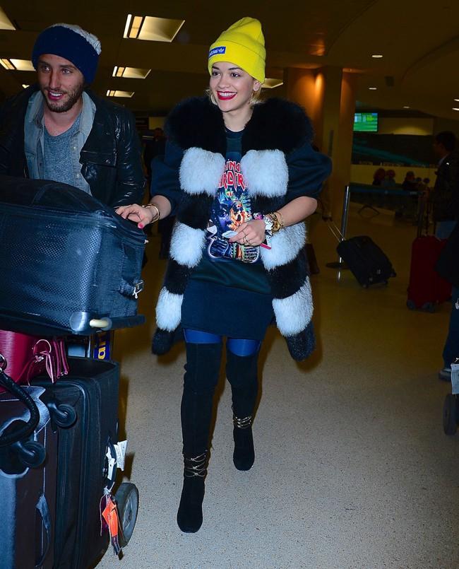 Rita Ora à New-York le 5 janvier 2014