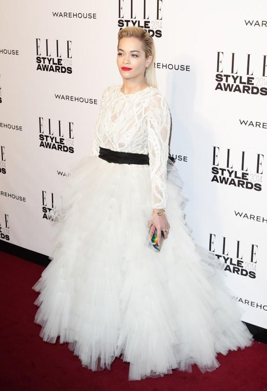 Rita Ora lors de la soirée ELLE Style Awards à Londres, le 18 février 2014.