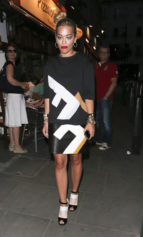 Rita Ora à Londres le 25 juillet 2013