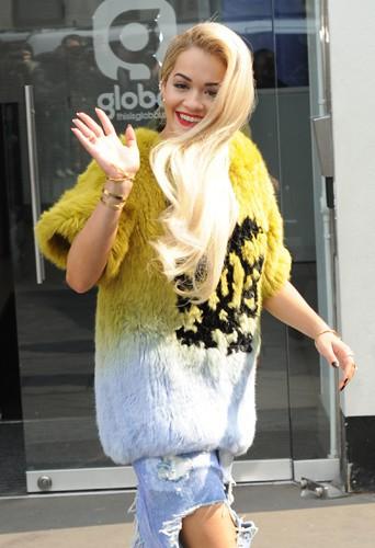 Rita Ora à Londres le 27 mars 2014