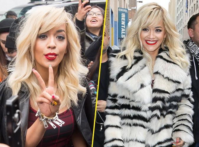 Rita Ora à New York, le 9 février 2014.