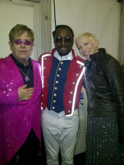 Elton John, Will.i.am et Annie Lennox