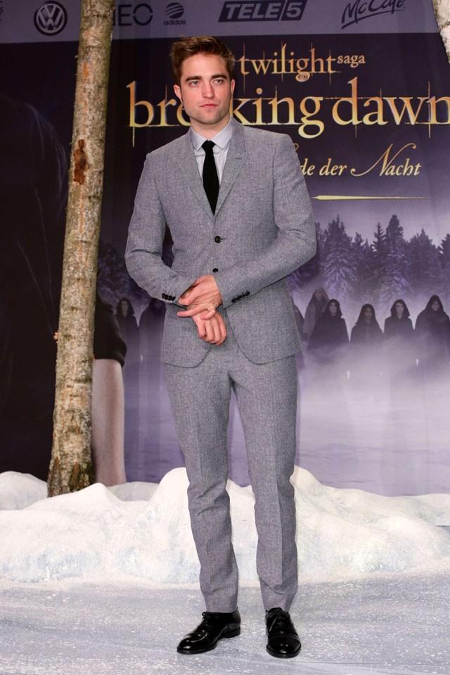 Taylor Lautner, Kristen Stewart et Robert Pattinson à la première de Révélation : deuxième partie à Berlin le 16 novembre 2012