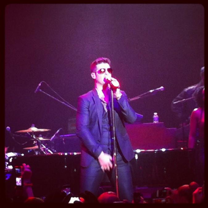 Robin Thicke en concert privé NRJ à Paris, le 18 octobre 2013.