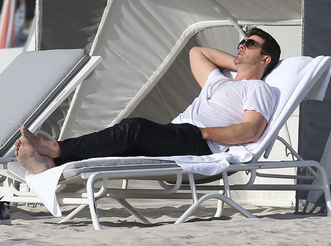 Robin Thicke à Miami le 19 décembre 2013