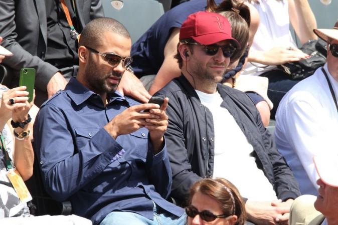 Bradley Cooper et Tony Parker à Roland Garros le 29 mai