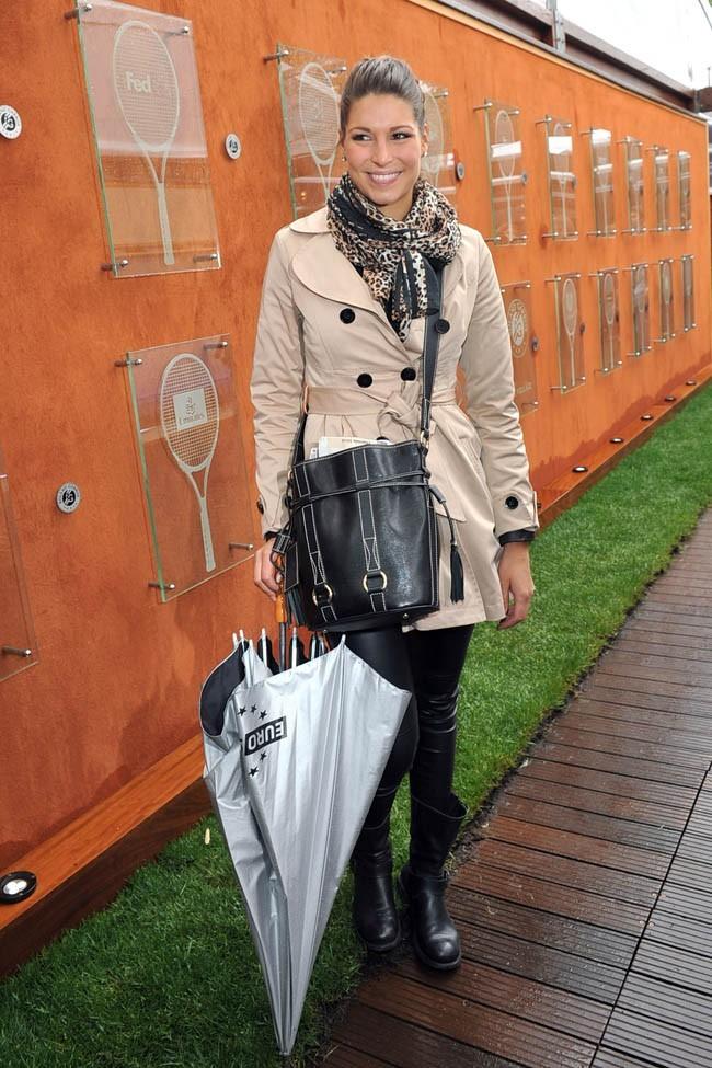Laury Thilleman à Roland-Garros le 28 mai 2013