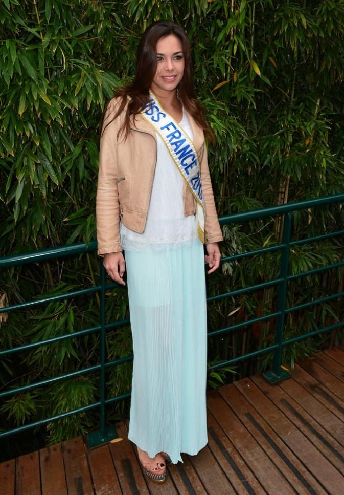 Marine Lorphelin à Roland-Garros le 9 juin 2013