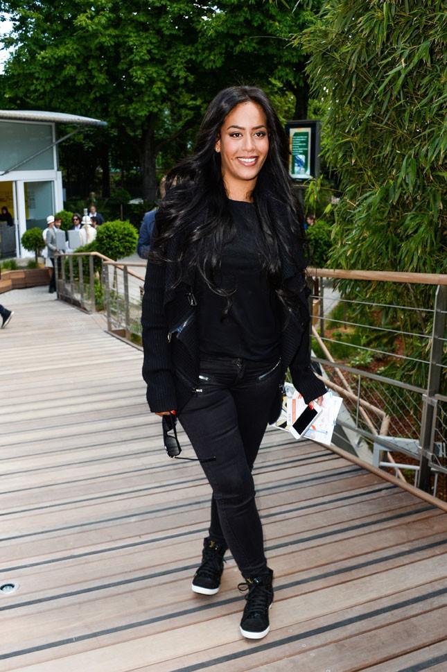 Amel Bent à Roland Garros le 5 juin 2014