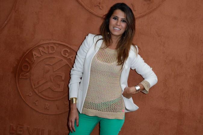 Karine Ferri à Roland Garros le 26 mai 2014