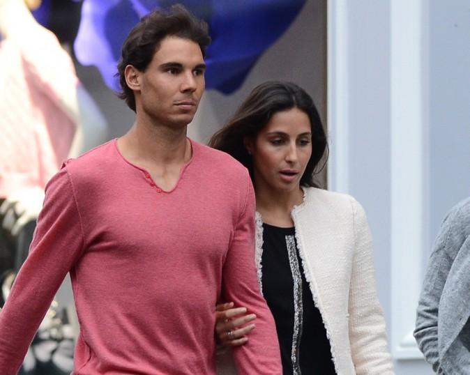 Rafael Nadal avec sa girlfriend Xareca Perello à Paris le 1er juin 2014