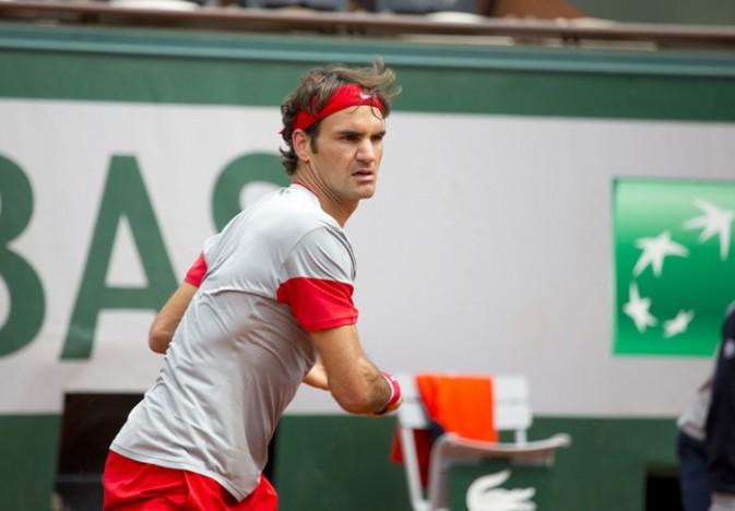 Roger Federer à Roland Garros le 25 mai 2014