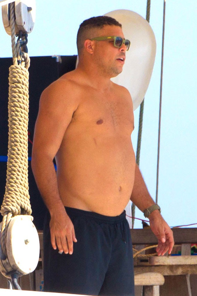 Ronaldo en vacances à Ibiza le 23 juillet 2013