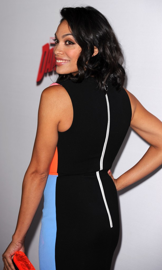 Photos : Rosario Dawson : la star de Daredevil en mode color-block sur le tapis rouge !