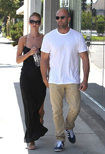 Rosie Huntington-Whiteley et Jason Statham à Los Angeles le 15 juillet 2013