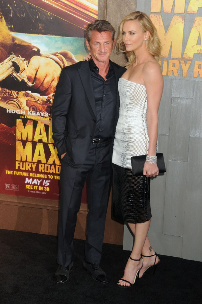 Charlize Theron et Sean Penn le 7 mai 2015