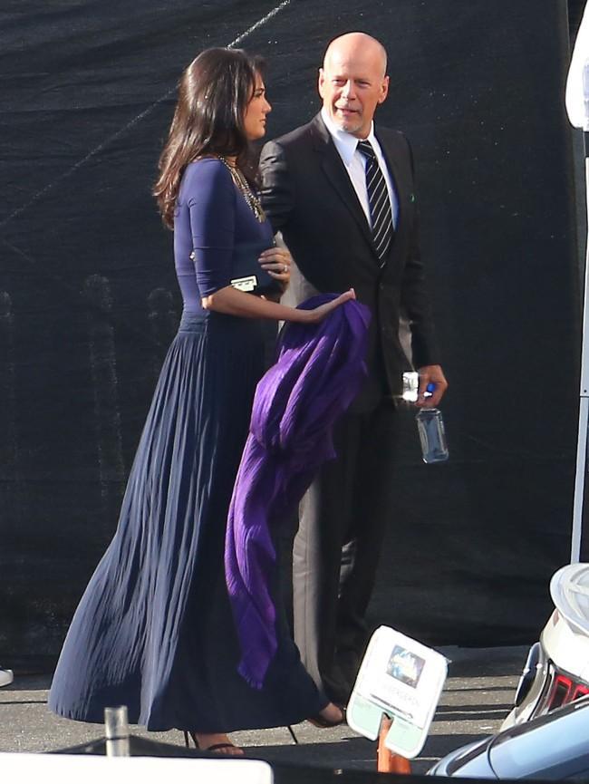 Bruce Willis et sa femme Emma à Hollywood le 19 mai 2015