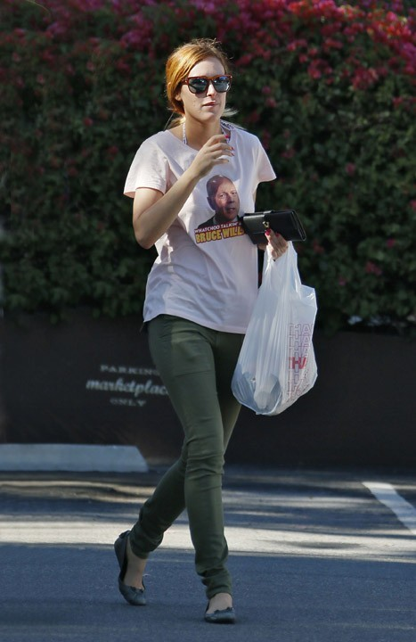 Rumer Willis avec un tee-shirt Bruce Willis à Los Angeles le 31 mars 2013