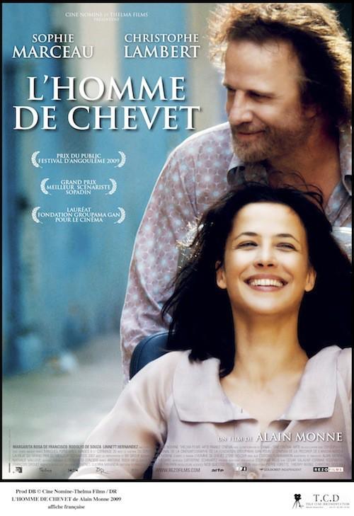 Sophie Marceau et Christophe Lambert sur l'affiche du film de L'homme de chevet en 2009