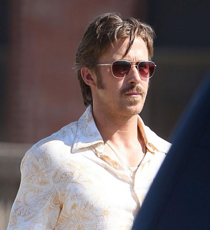 Ryan Gosling en tournage à Atlanta le 27 octobre 2014