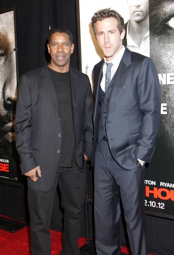Avec Denzel Washington !