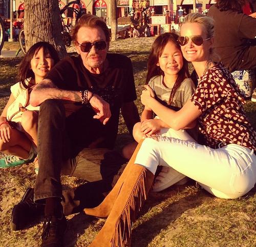 Les Hallyday au soleil pour la fête des pères