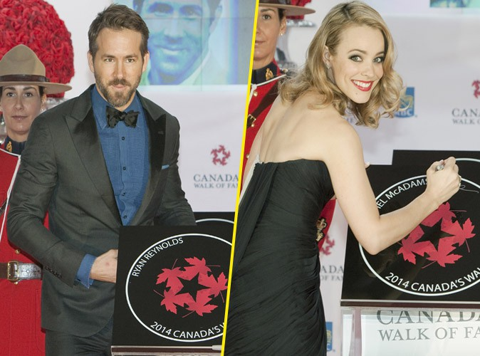 Ryan Reynolds et Rachel McAdams : ils rejoignent le Walk Of Fame canadien !