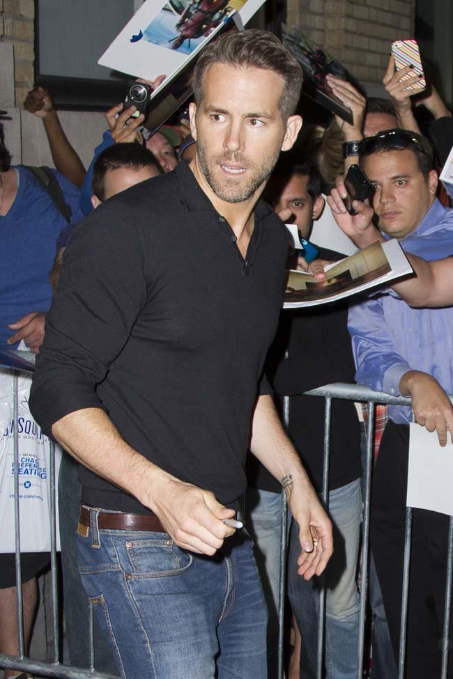 Ryan Reynolds à New-York le 21 septembre 2015