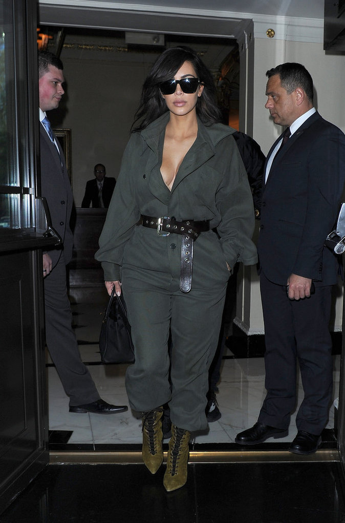 Les lunettes de soleil comme Kim Kardashian
