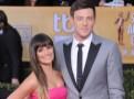 SAG Awards 2013 : Lea Michele : un petit bonbon rose qui a fait le show au bras de son amoureux...