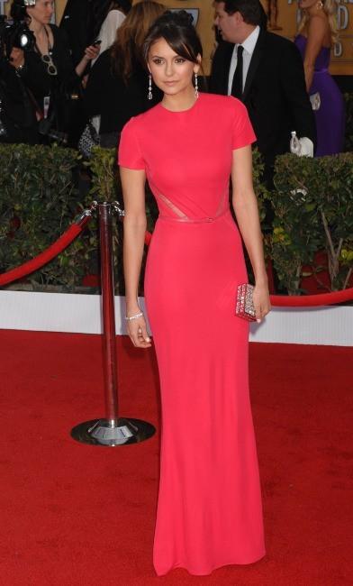 Nina Dobrev lors des SAG Awards à Los Angeles, le 27 janvier 2013.