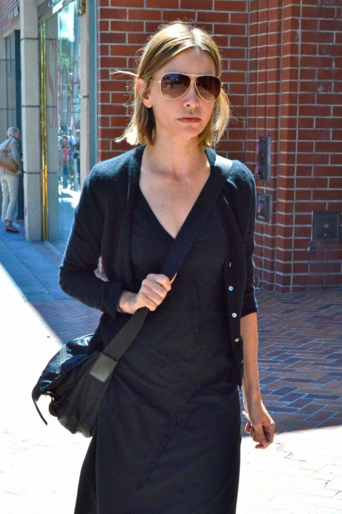 Calista Flockhart le visage bouffi dans les rues de Los Angeles, le 3 septembre 2013